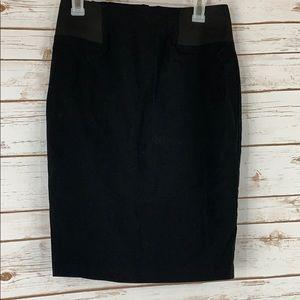Asos size 6 black elastic waist pencil skirt